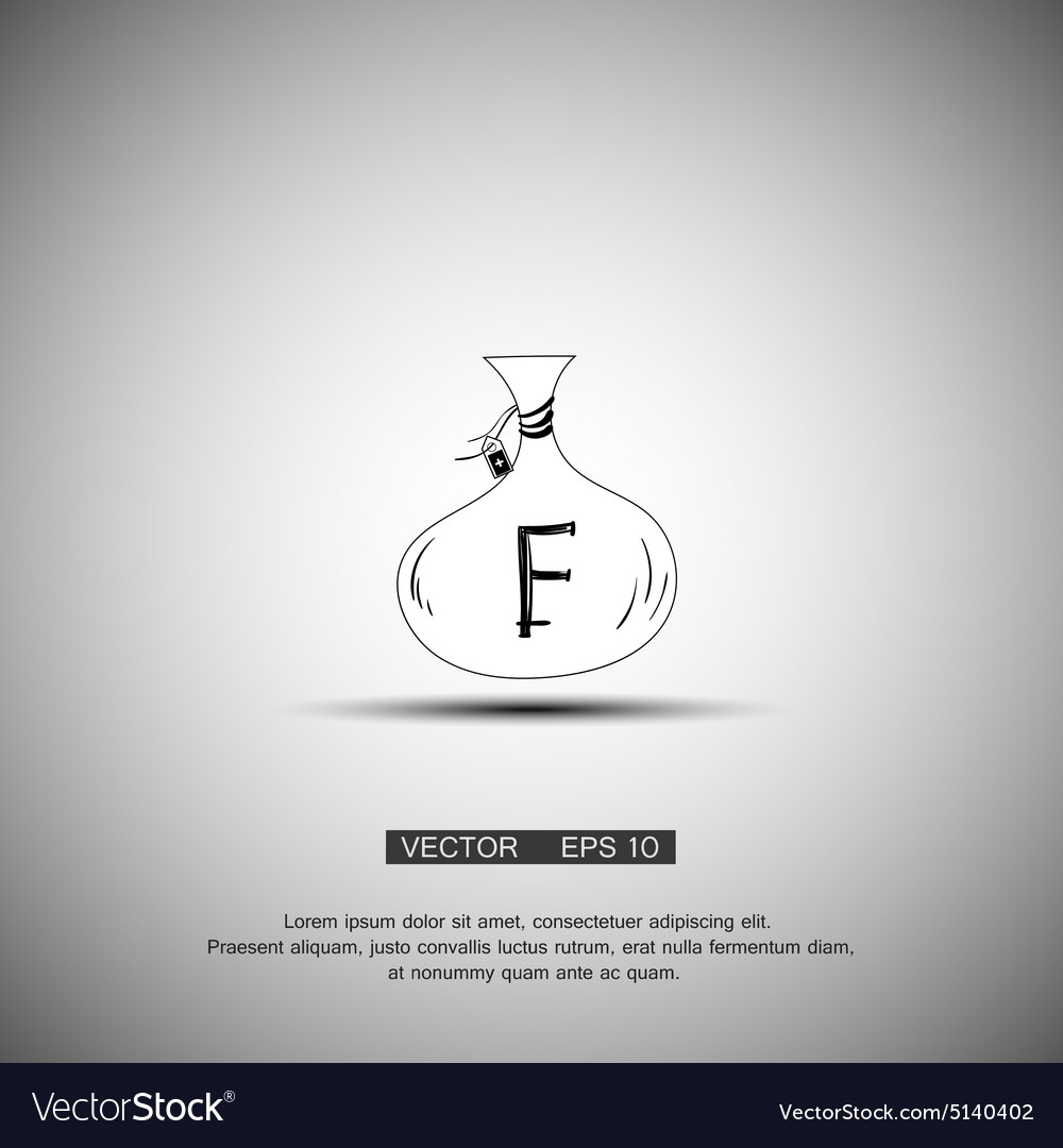 Bag with money franc symbol vector