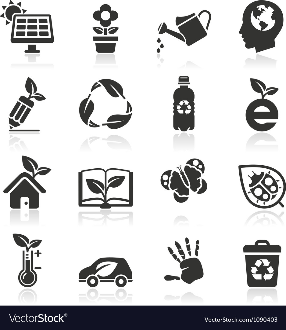 Ecology icons set2 vector