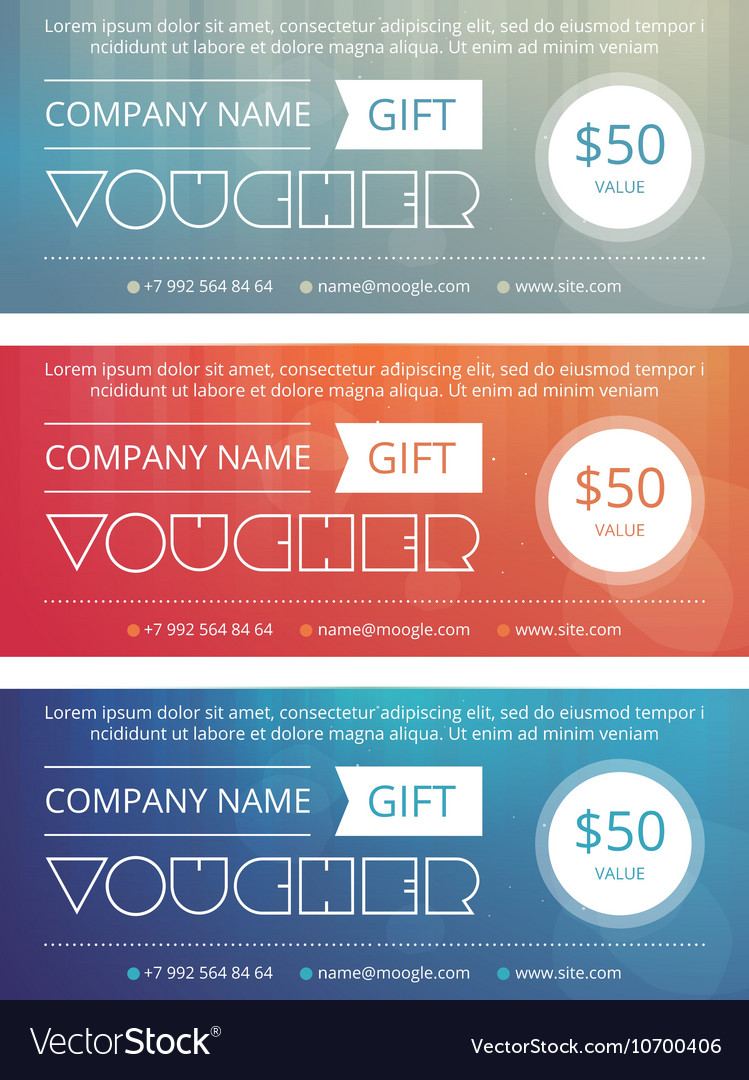 Gift voucher template with clean and modern patter vector