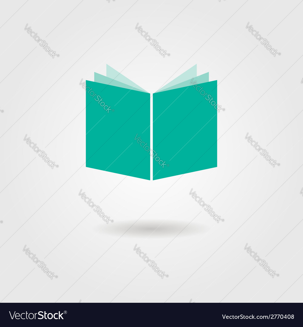 Book icon with shadow vector