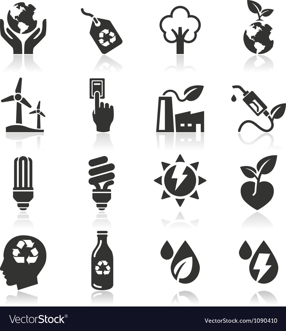 Ecology icons set3 vector