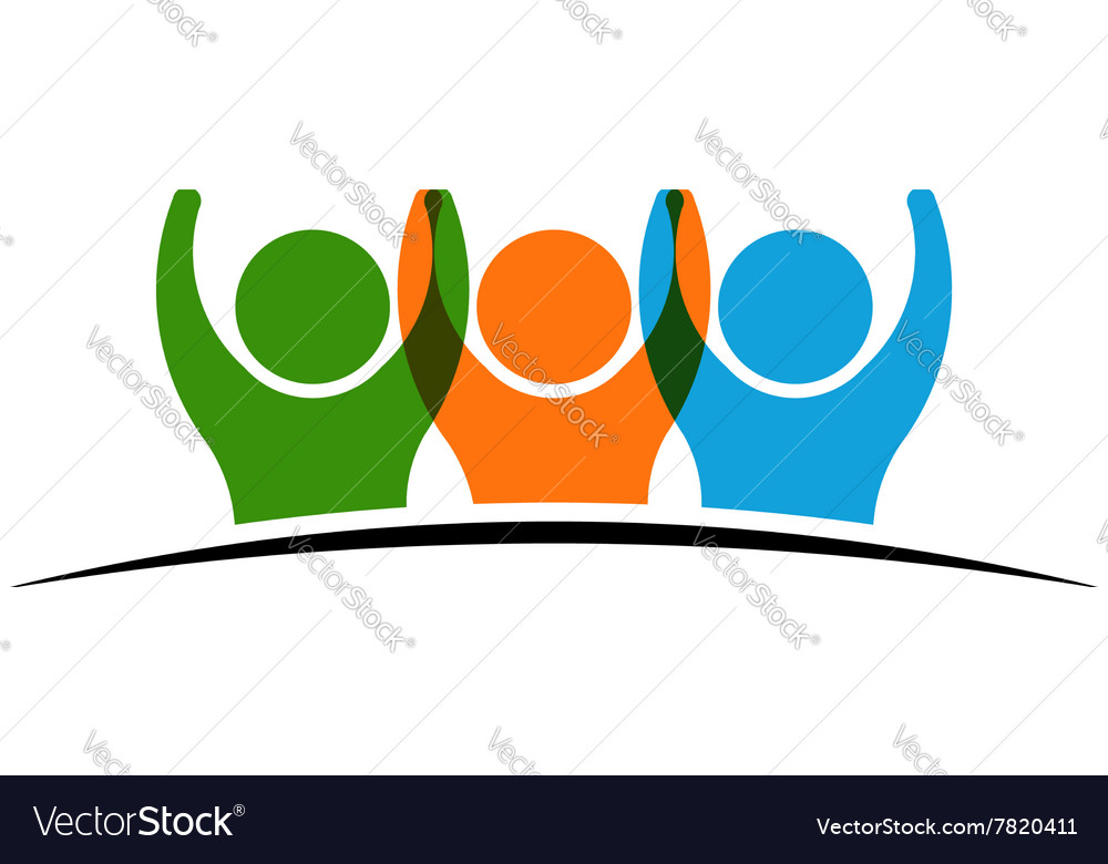 People group winners logo vector