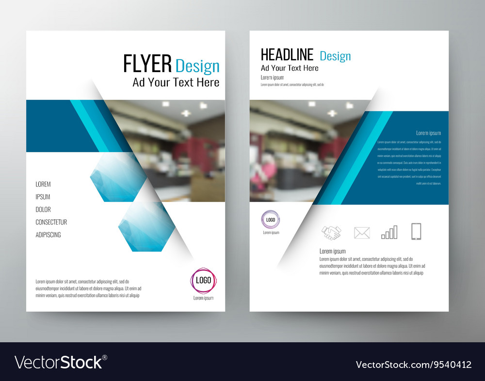 Flyer design layout template brochure for annual vector