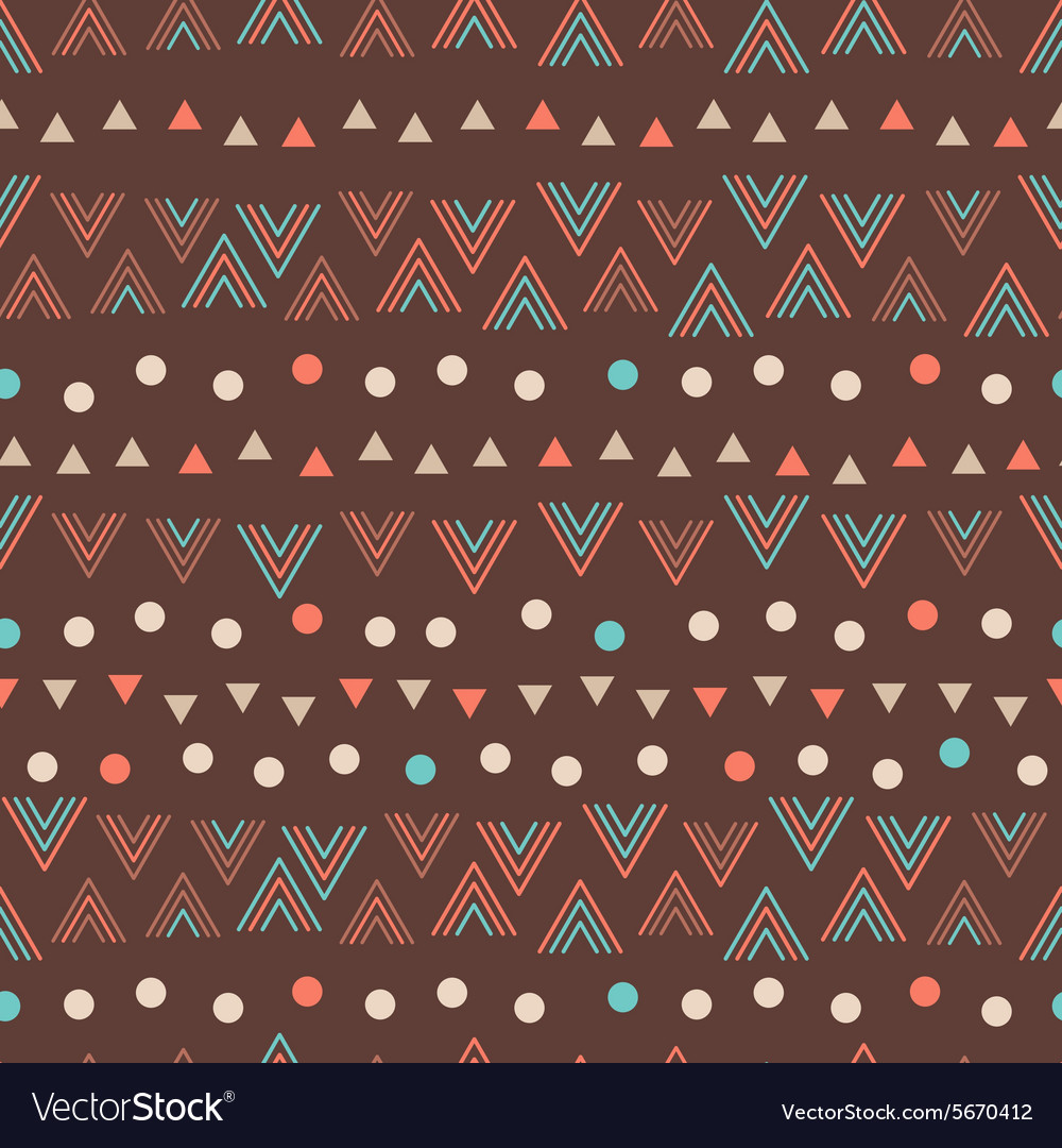 Geometric seamless pattern in cartoon style vector