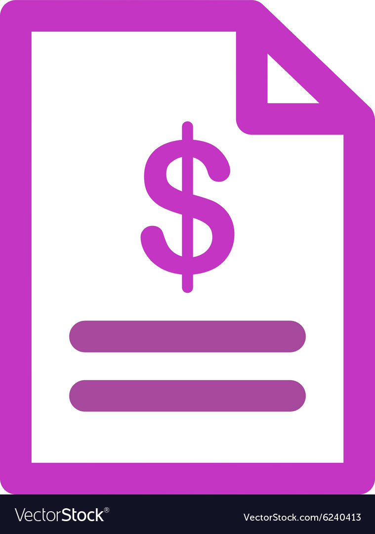 Invoice icon vector