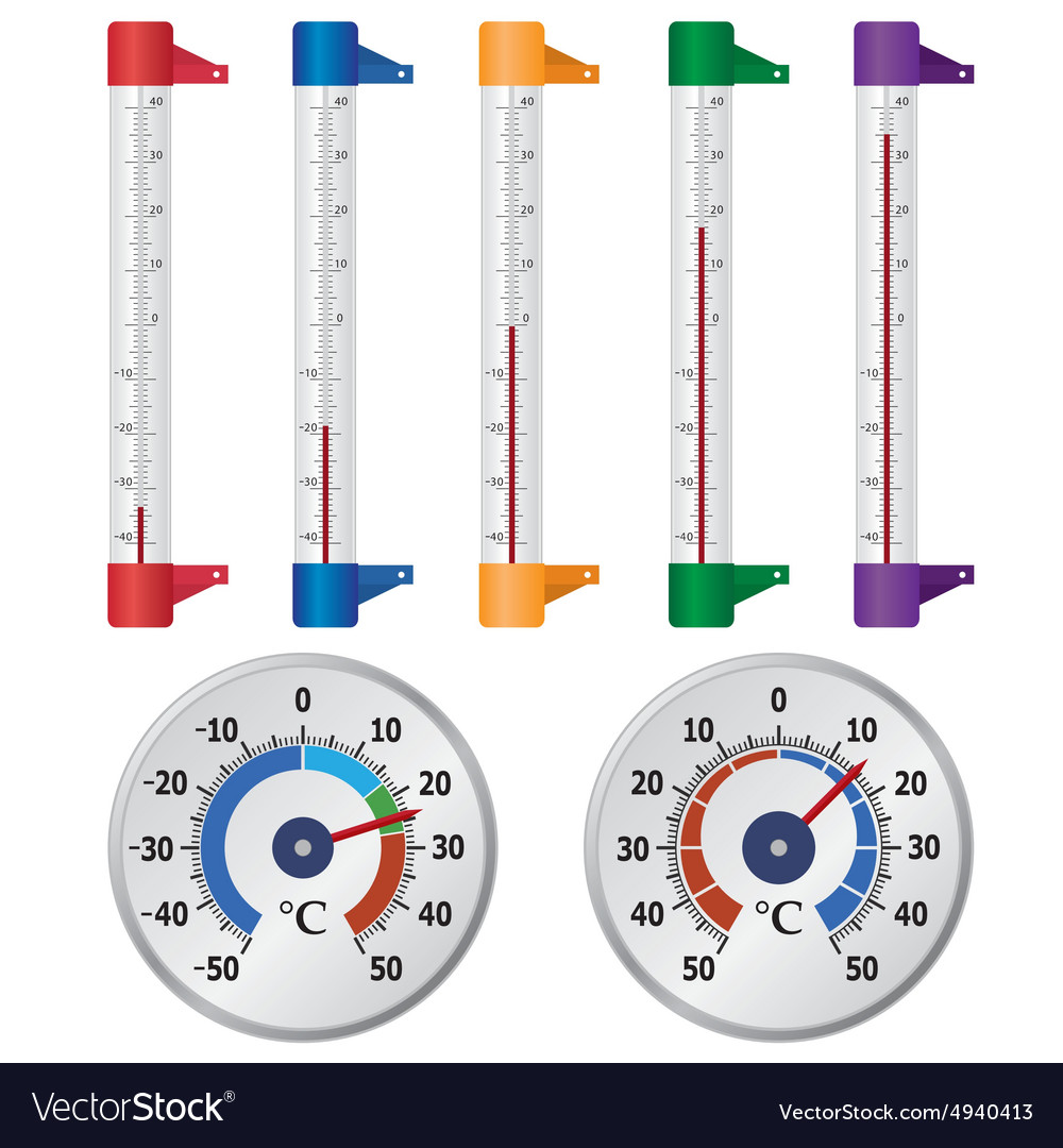 Street thermometers vector