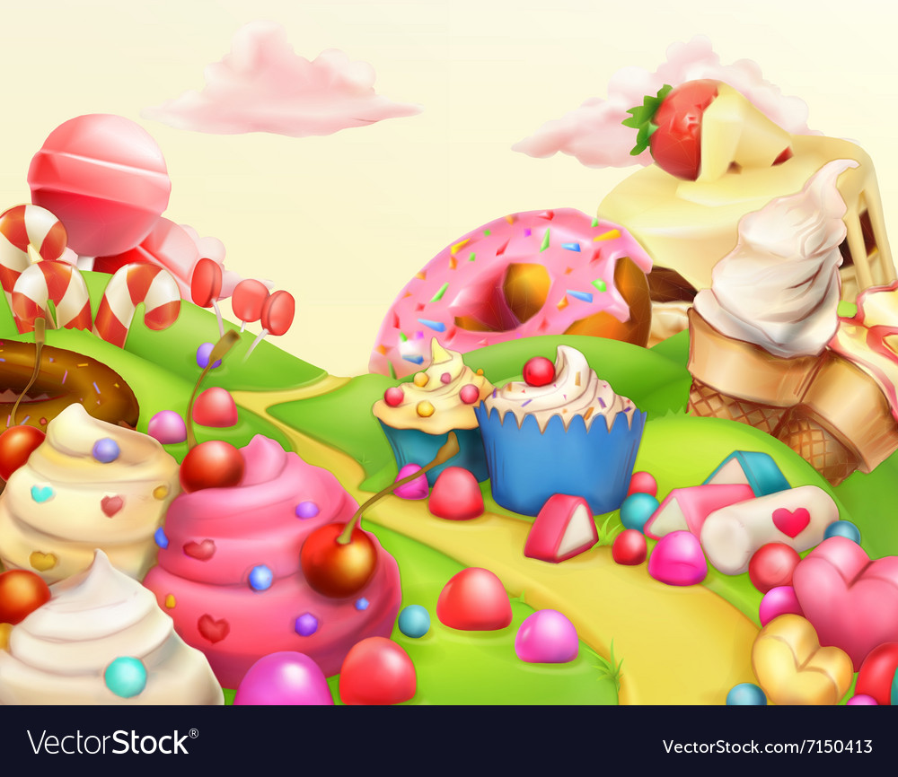 Sweet landscape background vector