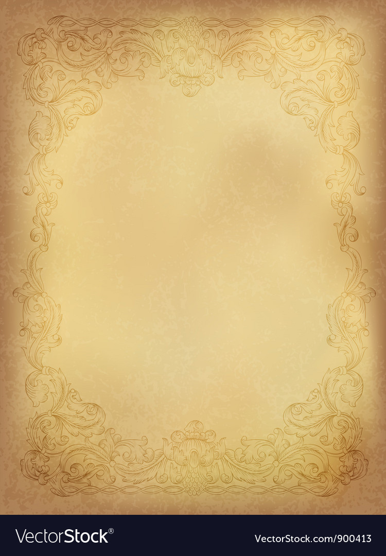 Vintage ornamental frame vector