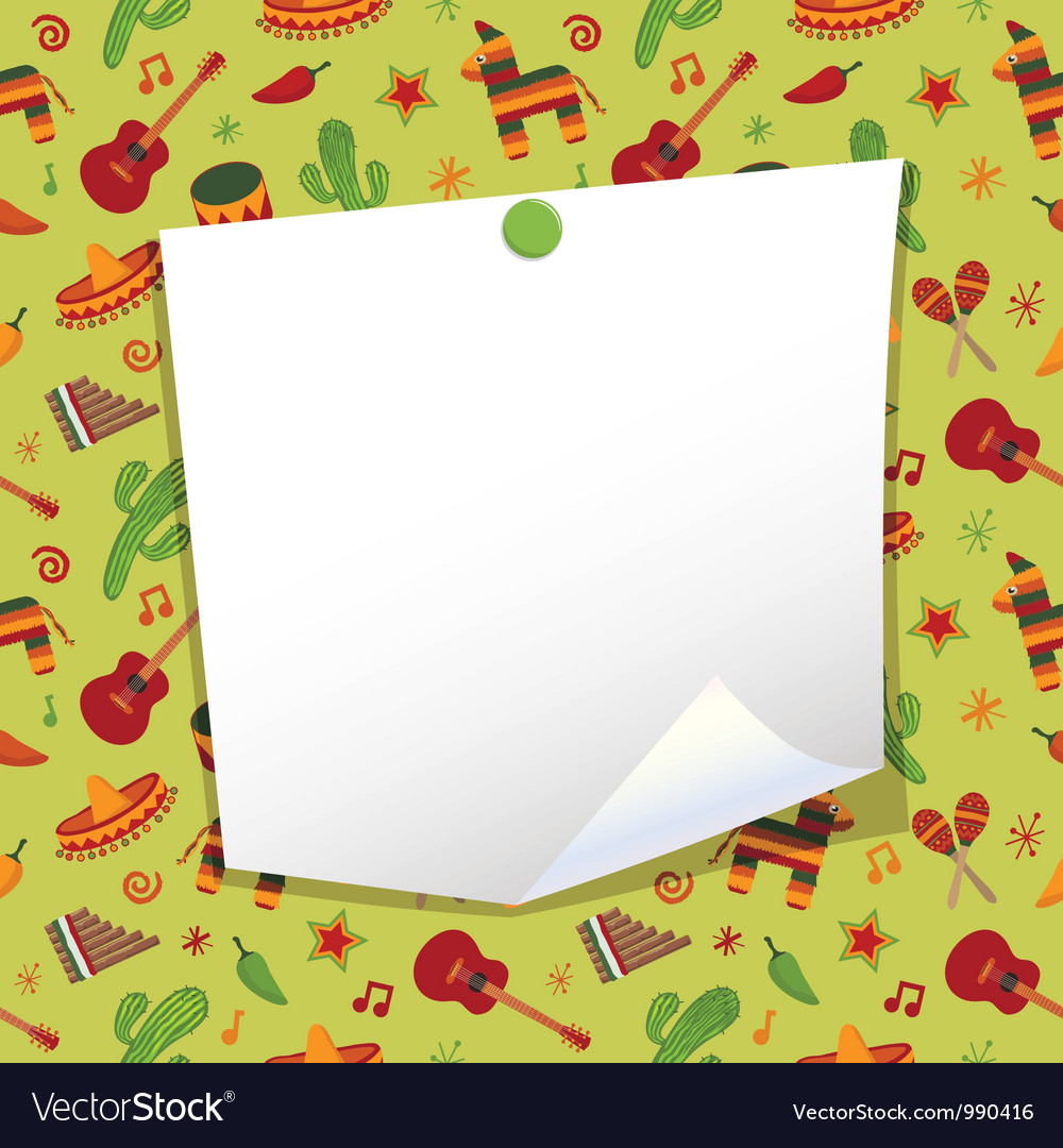 Mexican note paper vector
