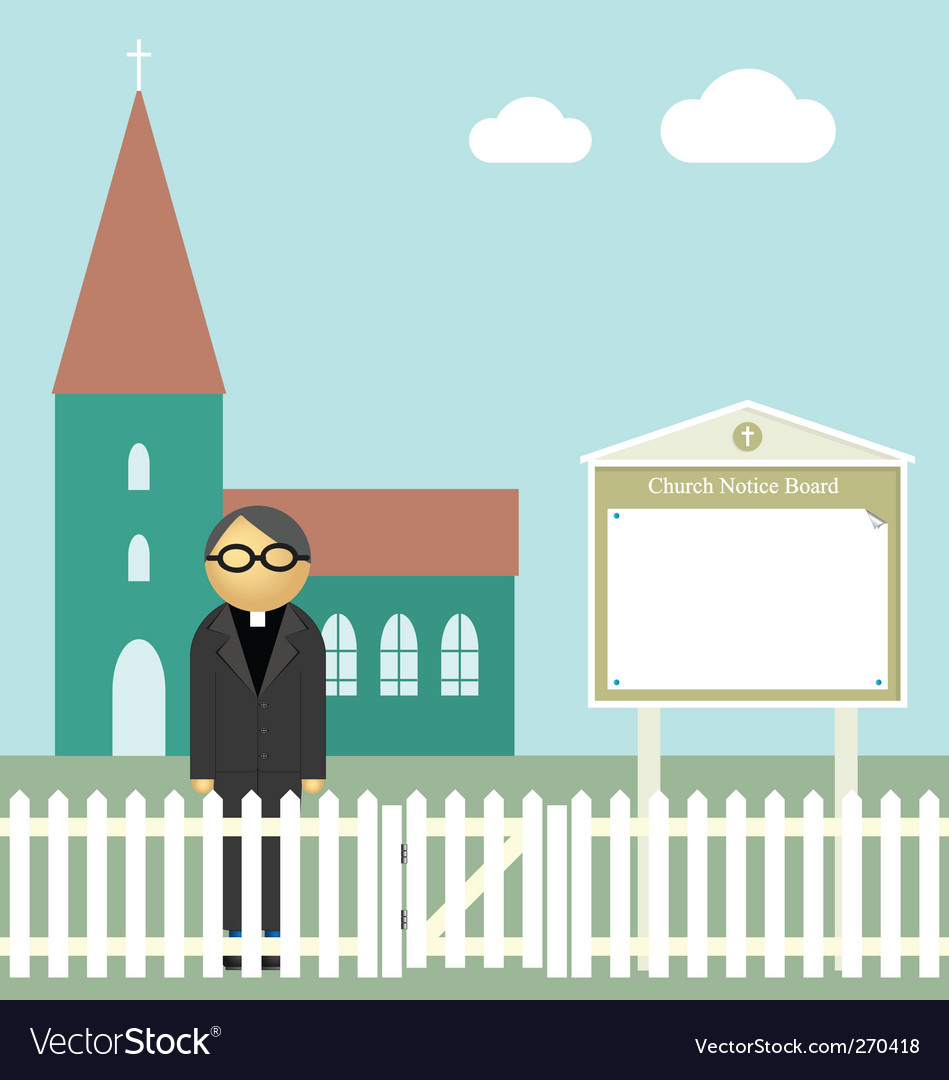 Church notice board vector