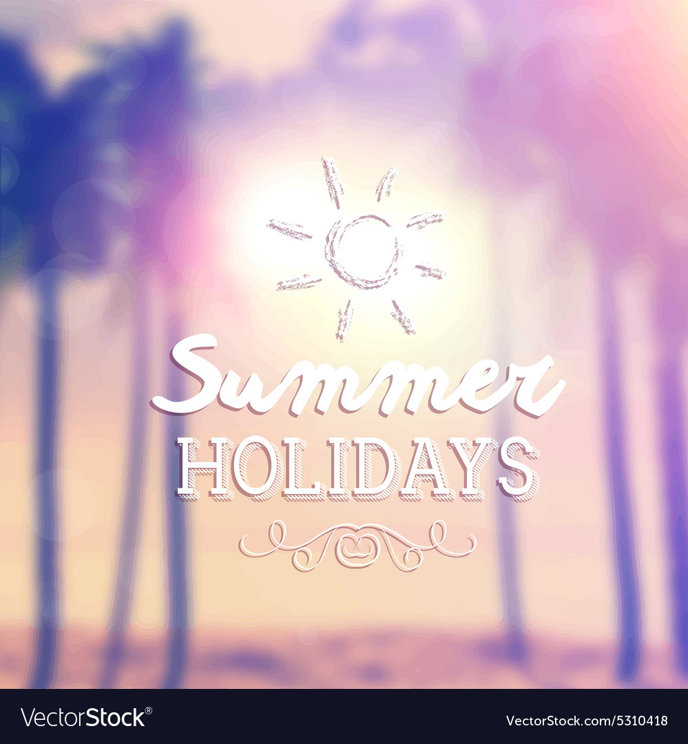 Retro summer background 1405 vector