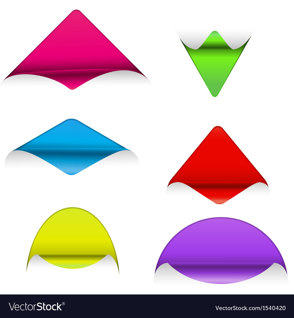 Set of sticker corners vector