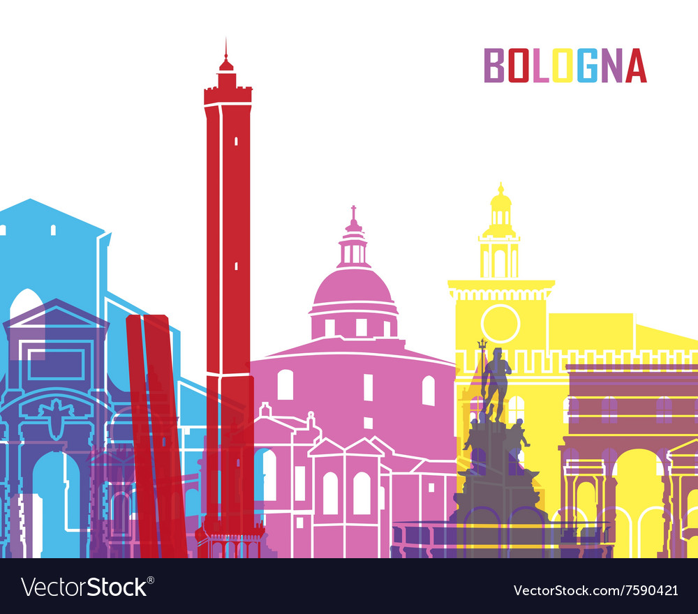 Bologna skyline pop vector
