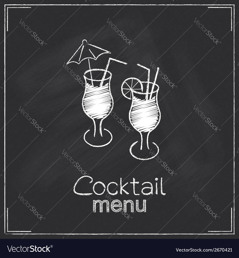 Cocktail menu design vector