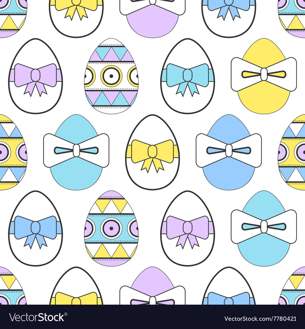 Seamless pattern with easter eggs decorative vector