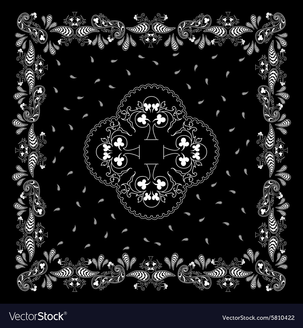 Bandana black white vector