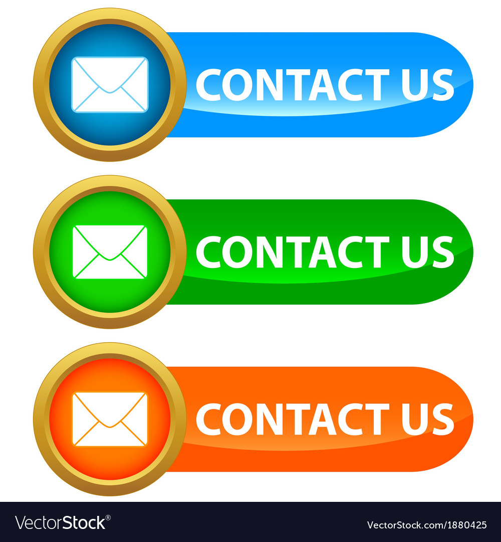 Set of contact us buttons vector