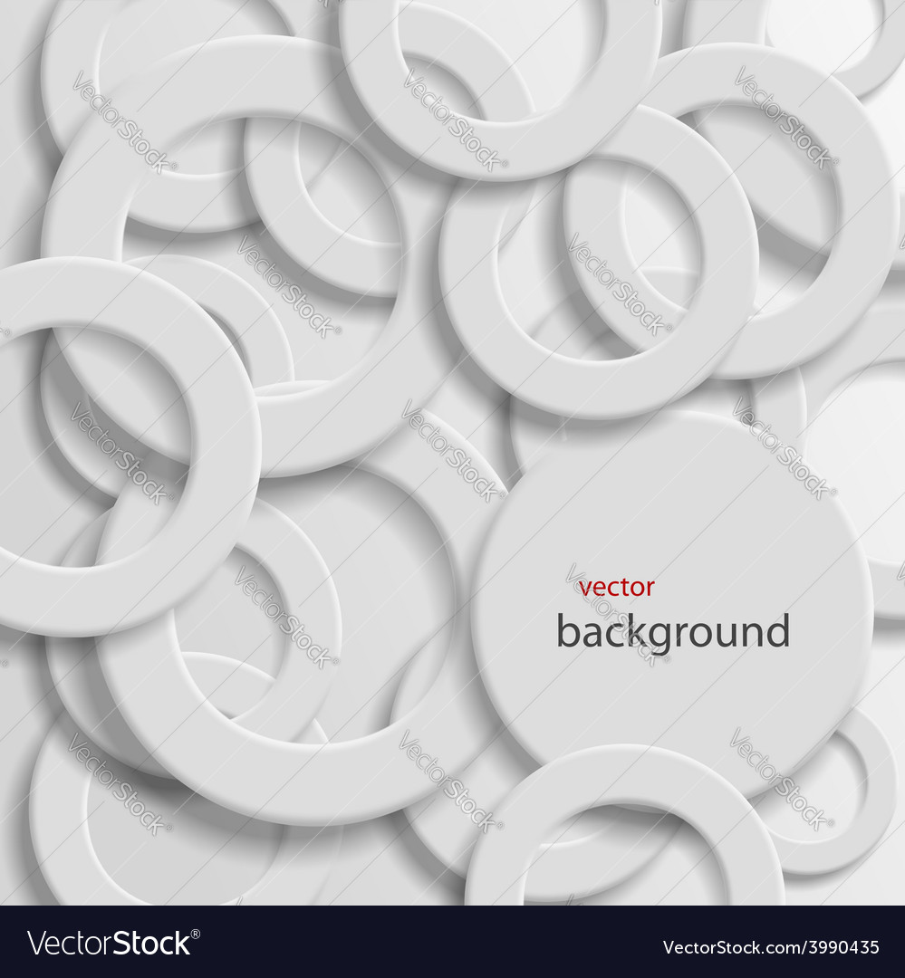 Abstract background with rings vector