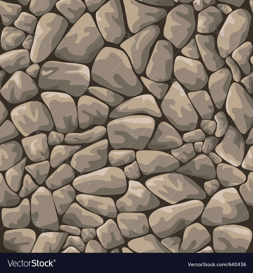 Seamless stone background vector