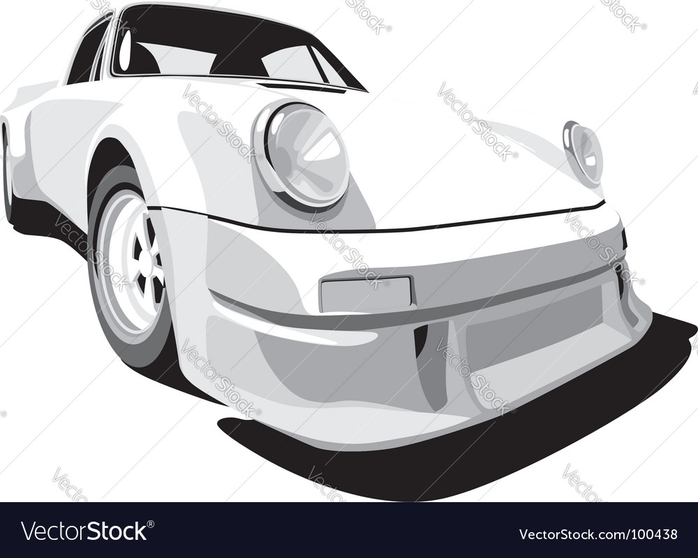 White sport car vector
