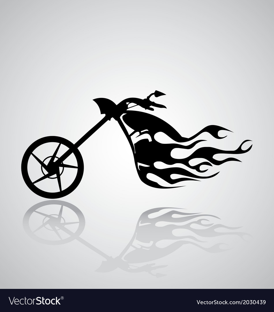 Motorcycle tribal vector