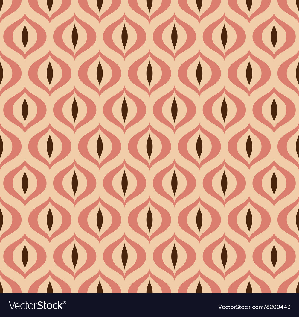 Retro geometric seamless pattern cats eye vector