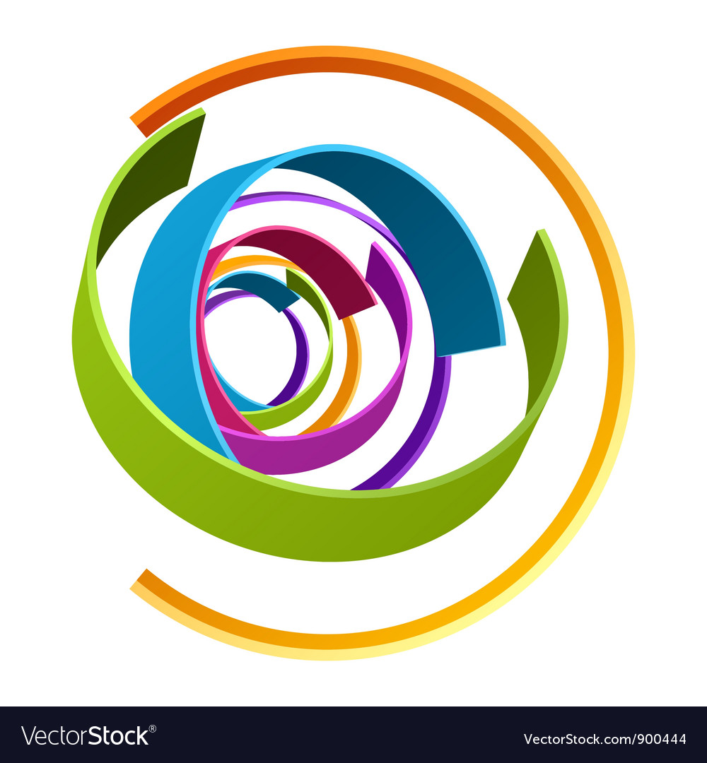 Abstract 3d circle rings backgound vector