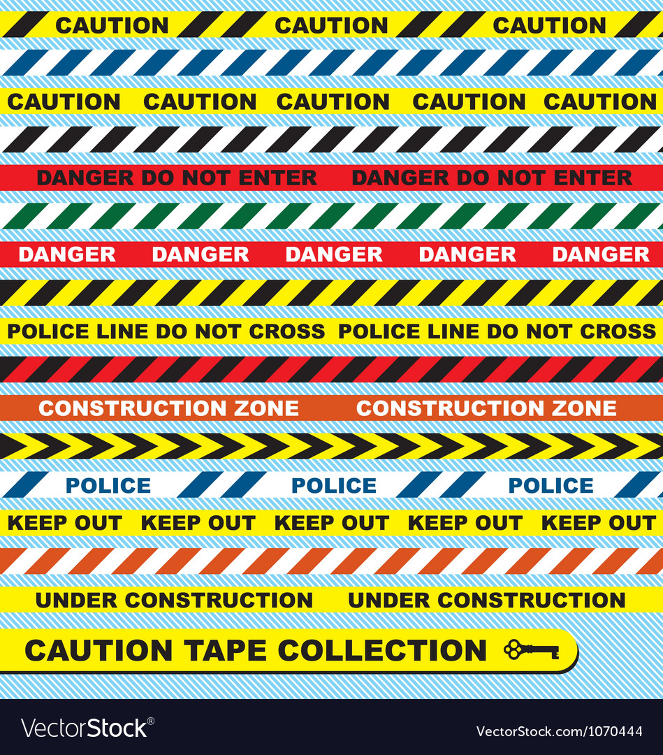 Caution tape collection vector