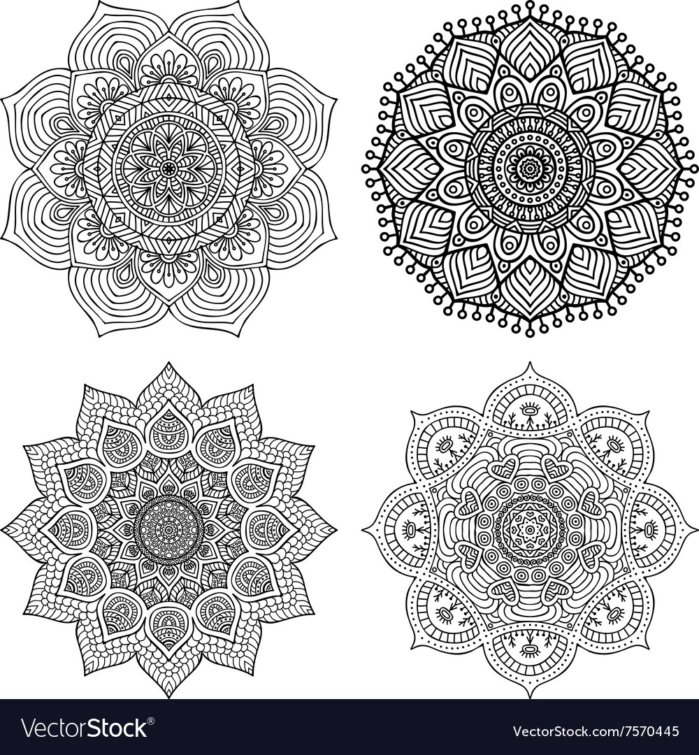 Decorate mandala vector