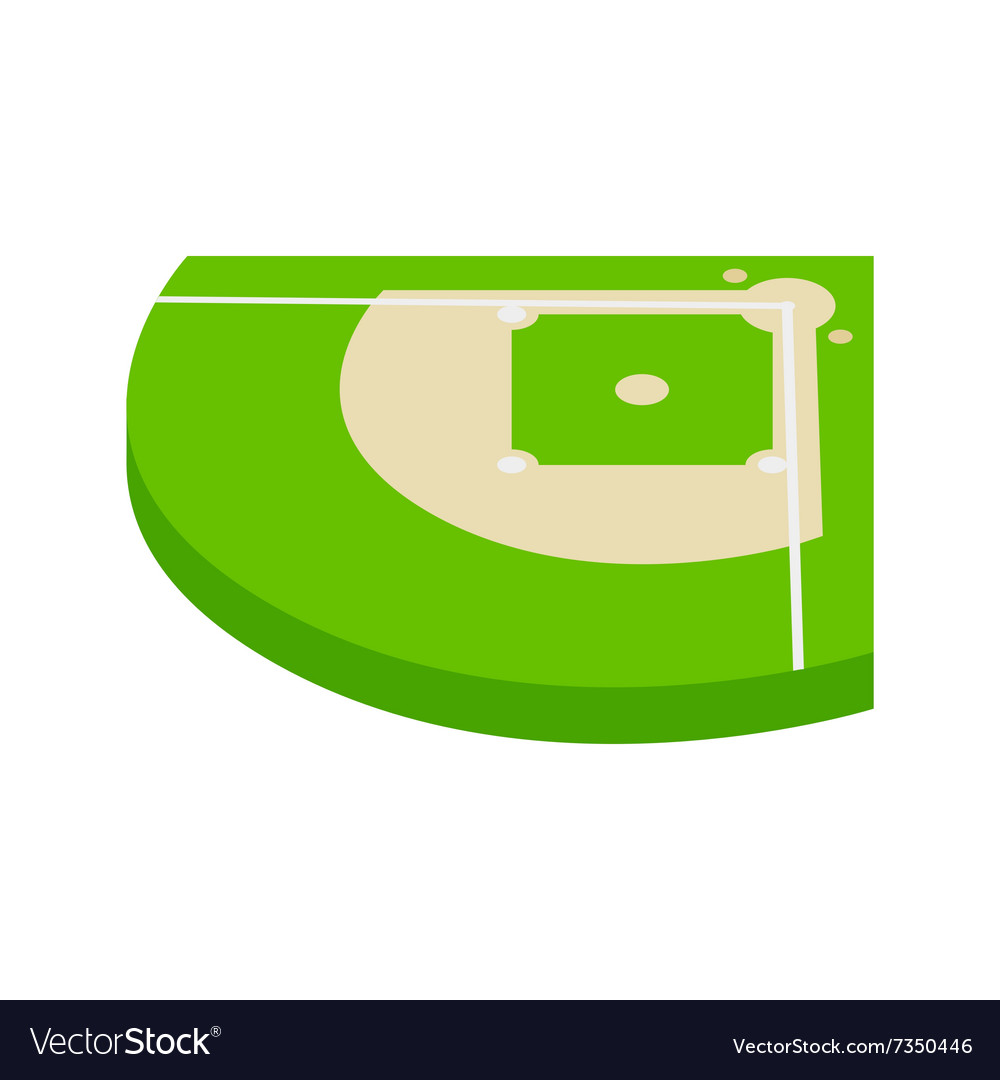Baseball aield isometric 3d icon vector