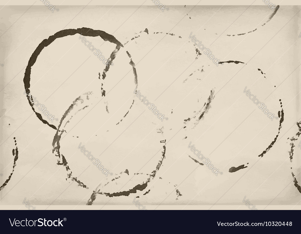 Shapes of beer wine and coffee ring stains vector