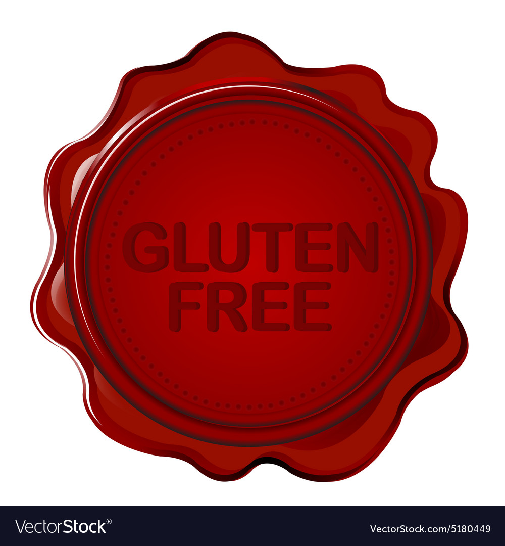 Gluten free wax seal vector