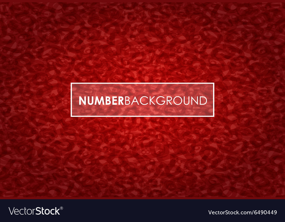 Red number background vector