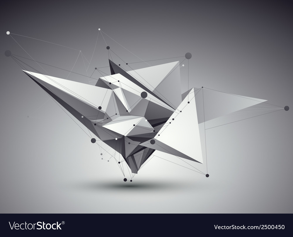 3d abstract tech perspective geometric unus vector