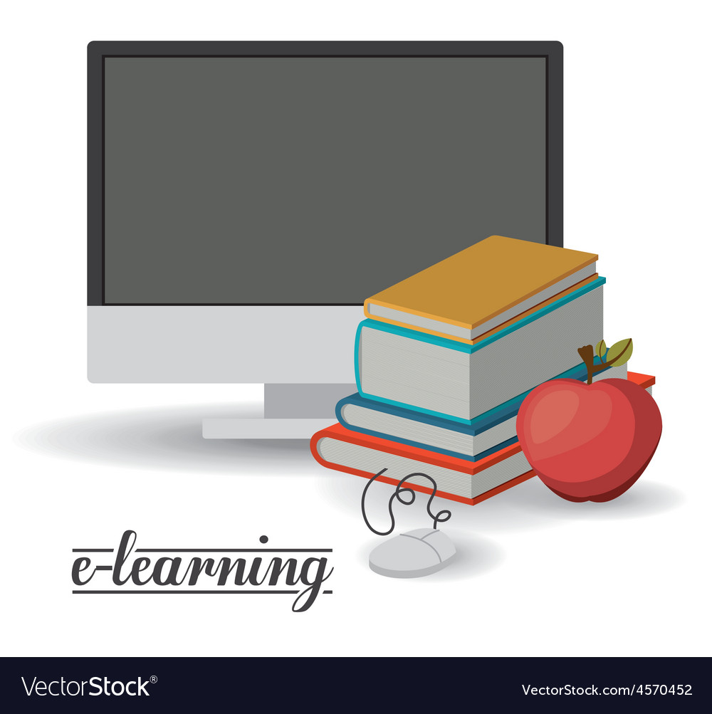 Elearning design vector