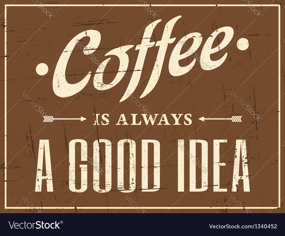 Vintage coffee design vector