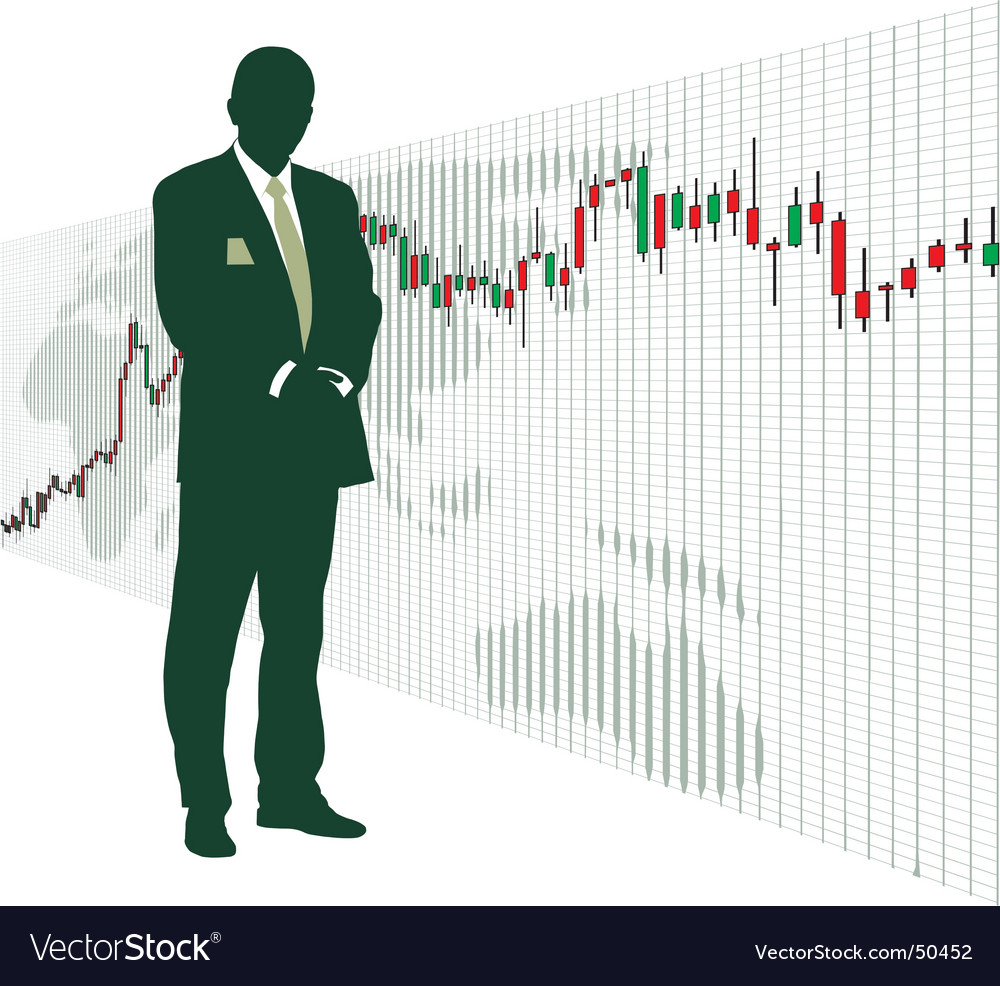 World stock exchange vector