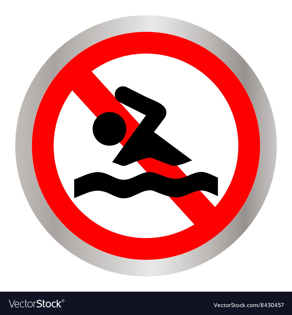 Sign is forbidden to swim vector