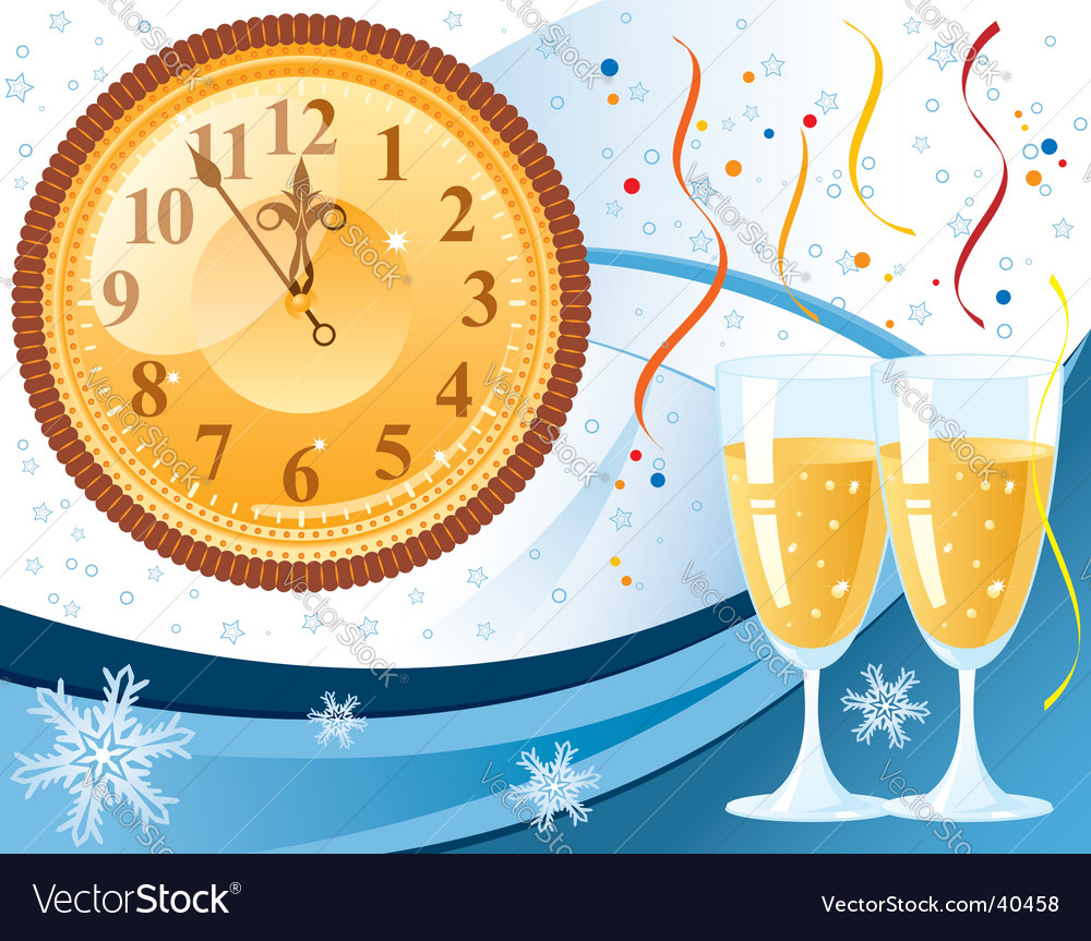 New years eve background vector