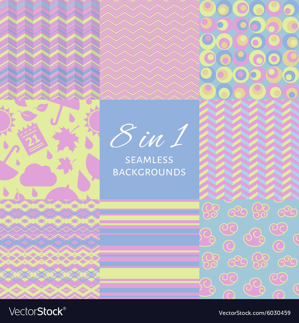 Set of seamles backgrounds vector
