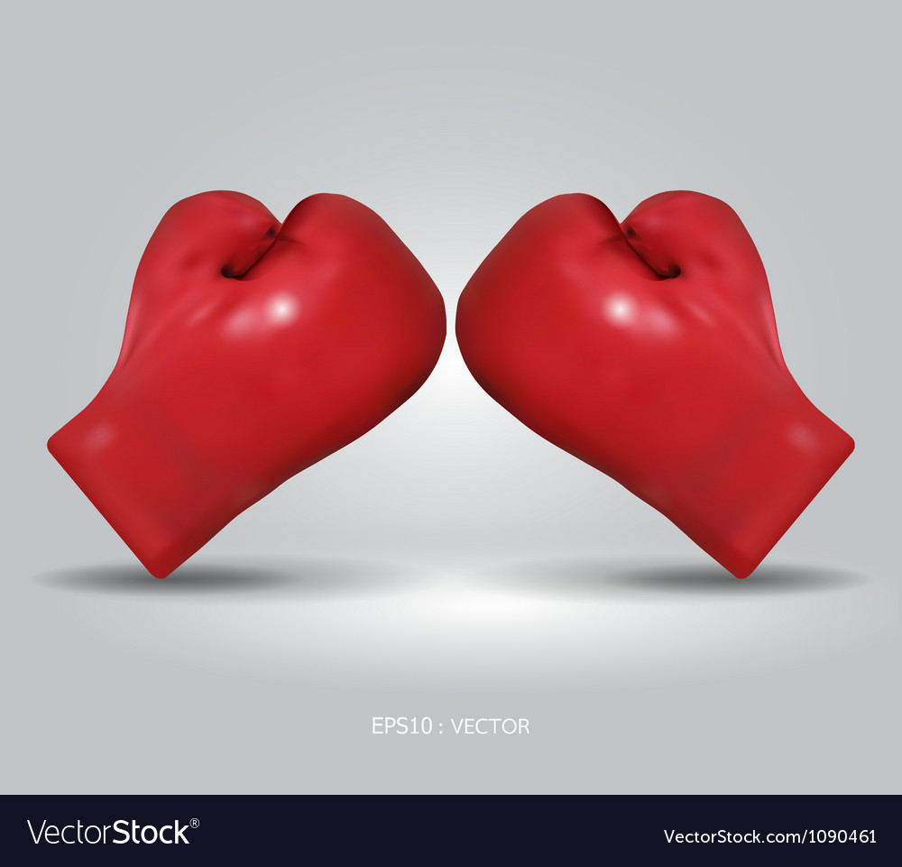 Red boxing gloves vector