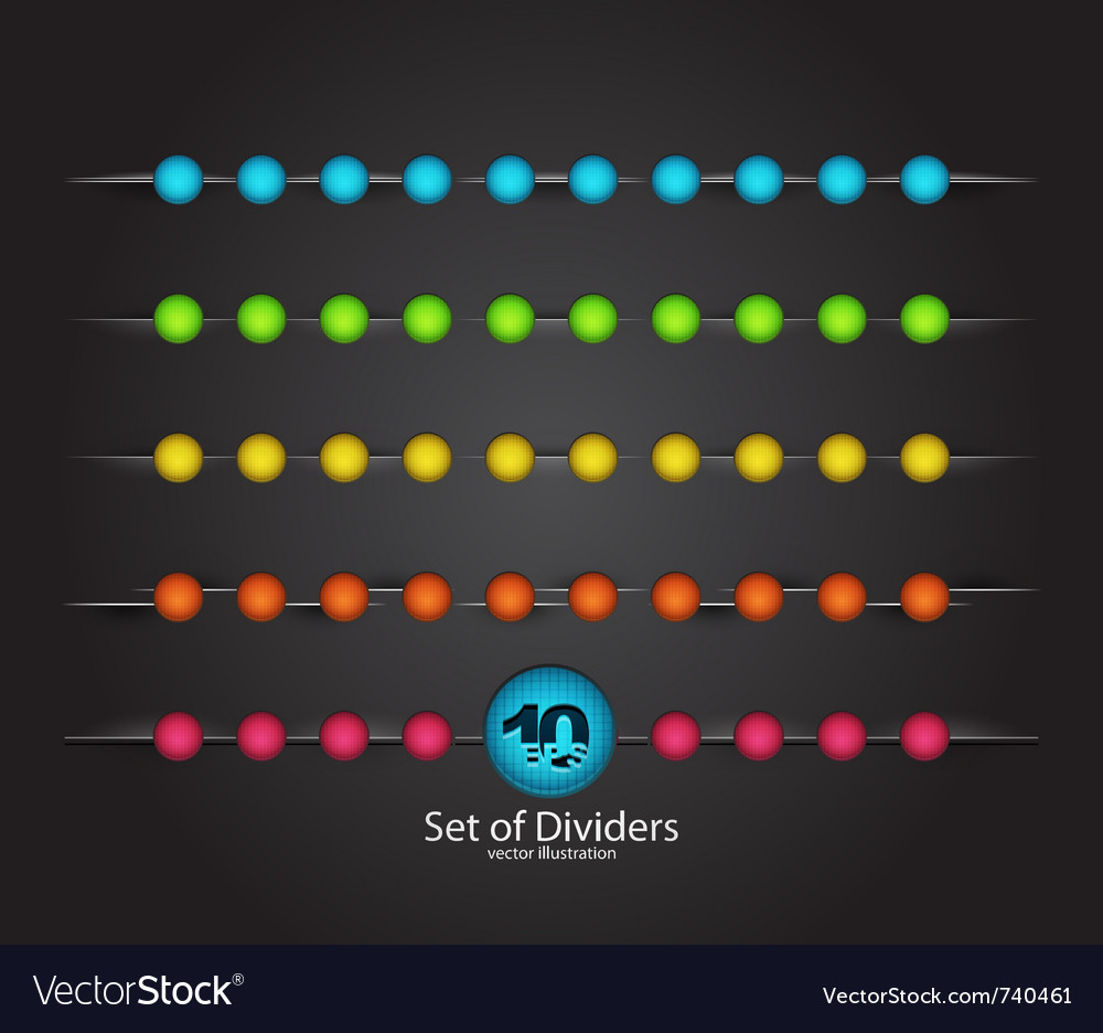 Web divider set vector