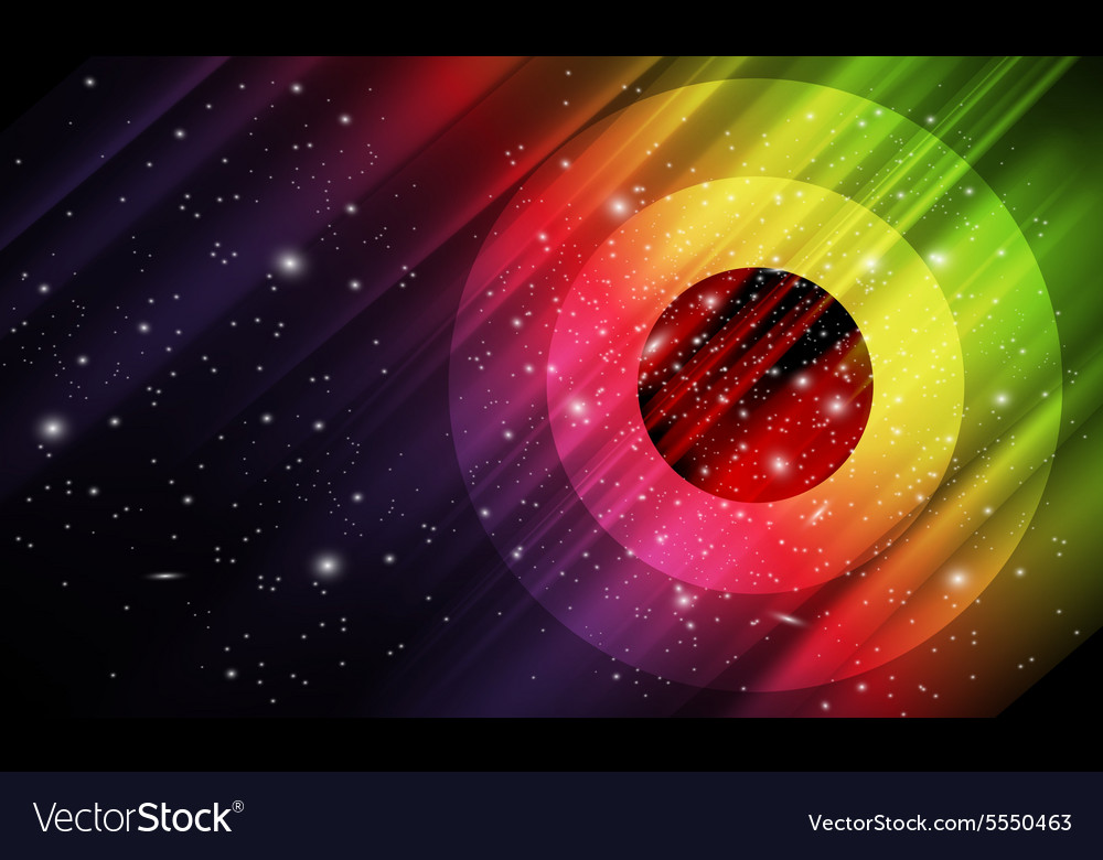 Space abstract background vector