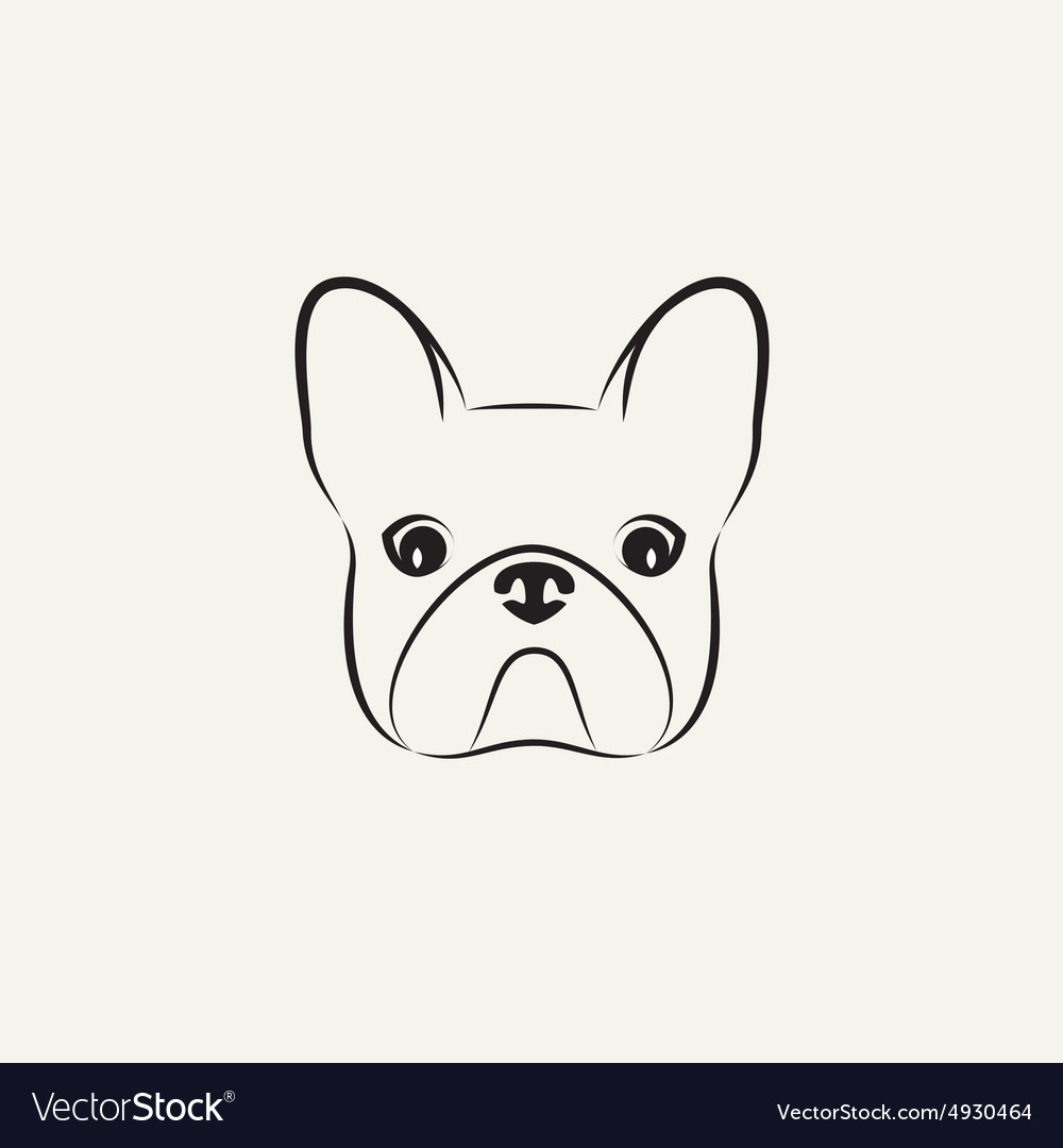 Stylized head of a dog on light background vector