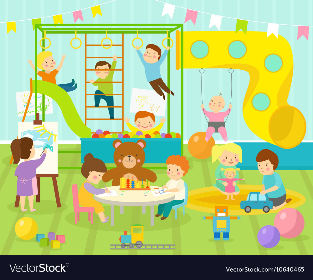 Kids room vector