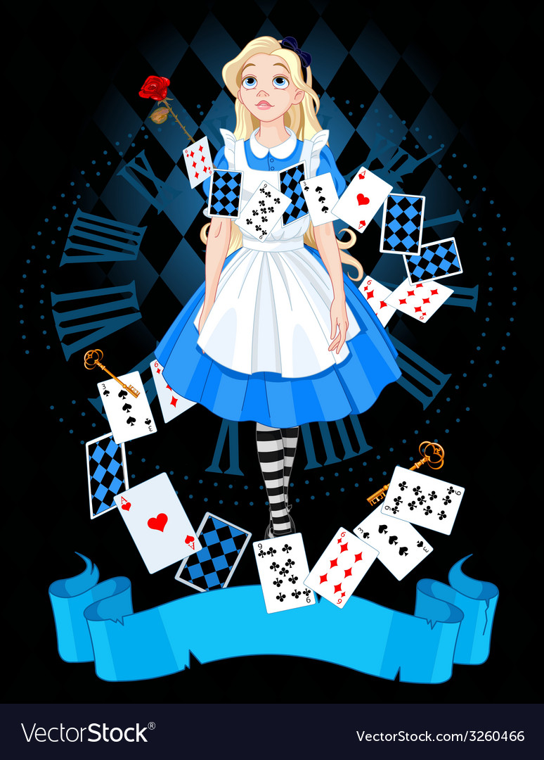Alice in wonderland vector