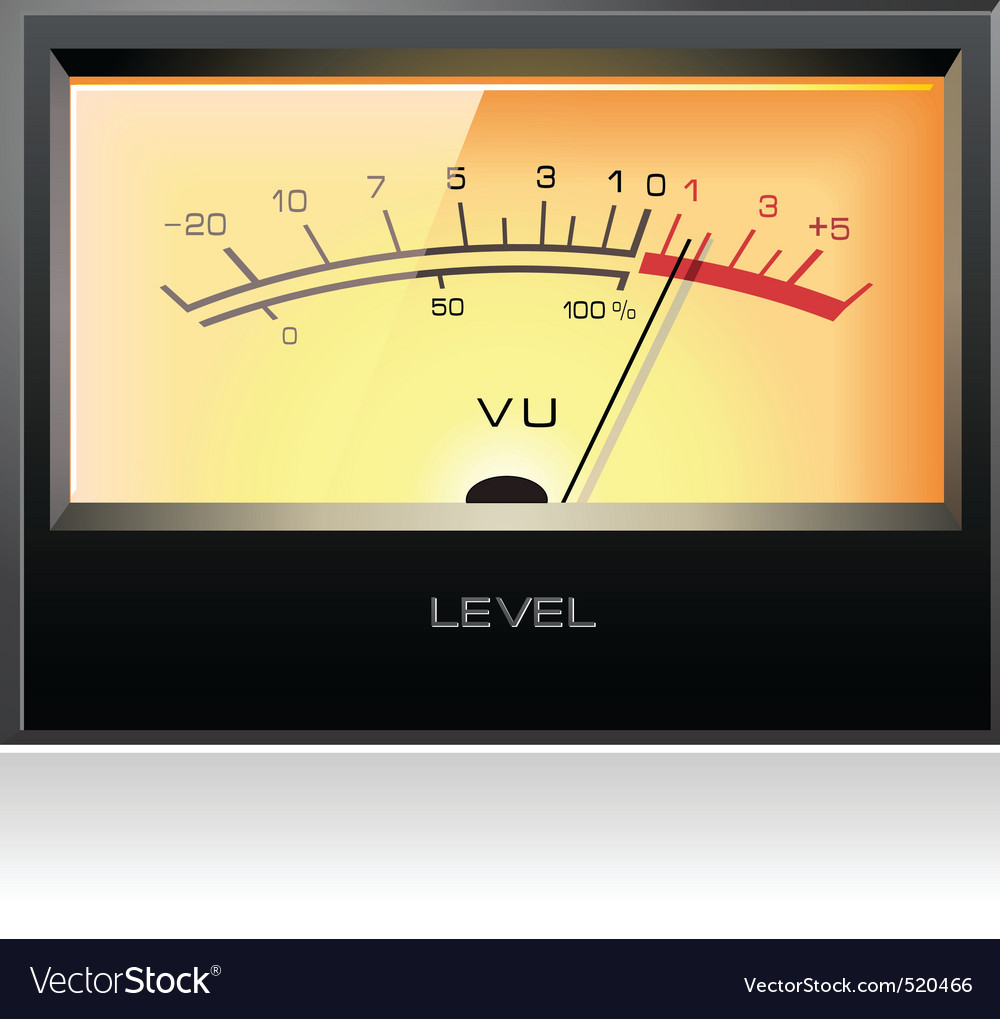 Analog electronic vu meter vector