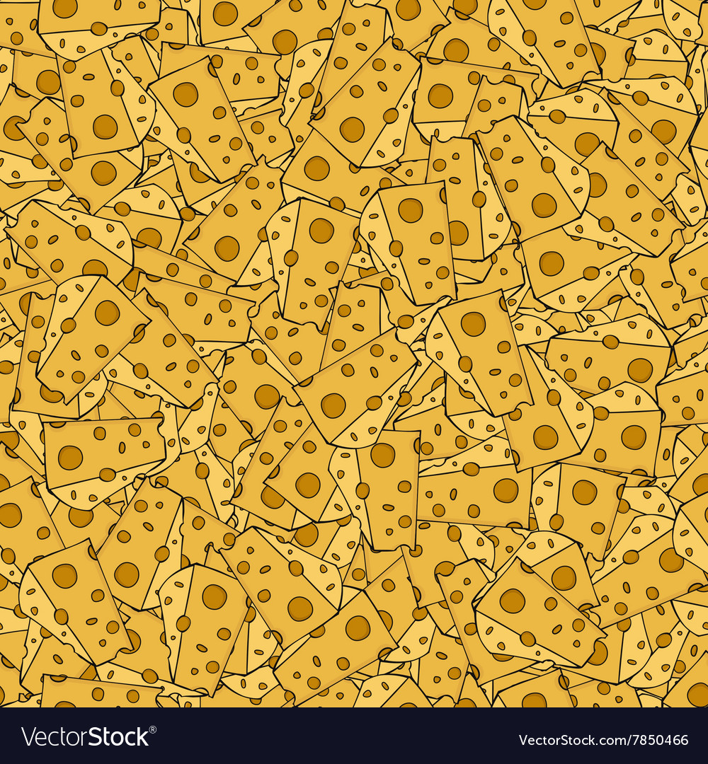 Modern cheese seamles pattern background vector
