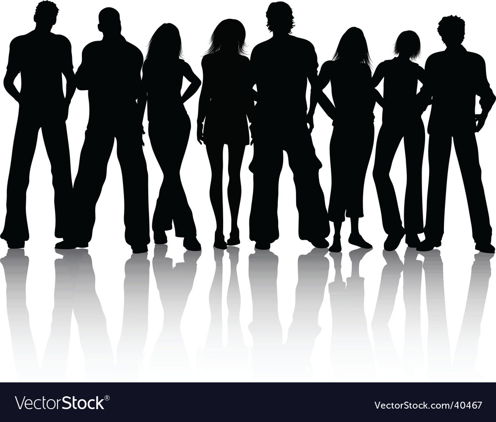 Crowd of people vector
