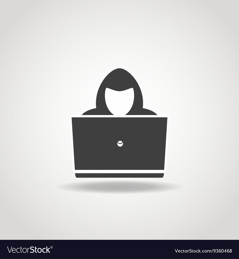 Hacker icon vector